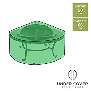 Under Cover Essentials Small Round Fire Pit Cover - Height 50cm X Width 66cm by Under Cover