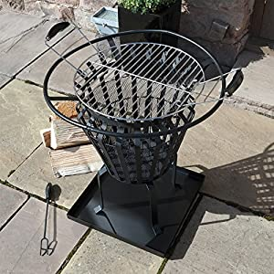 Victoria Fire Basket Metal Outdoor Patio Log Burner Brazier Wood Bbq Heater Pit by Marko