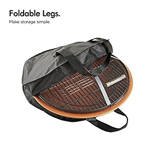Vonhaus Copper Effect Fire Pit Folding Garden Bbq Bowl Outdoor Camping Log Charcoal Patio Heater With Carry Bag Free Extended 2 Year Warranty by VonHaus