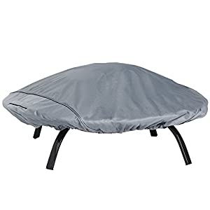 Vonhaus Premium Heavy Duty Small Round Fire Pit Cover 130cm - The Storm Collection - Slate Grey - Free 2 Year Warranty by VonHaus