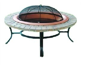 Warrior Stoves Wsfpdrov Deluxe Oval Fire Pit Basket Chiminea Bbq Patio Heater by Warrior Stoves