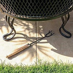 Wido Cast Iron Effect Steel Chiminea Log Burner Fireplace Outdoor Garden Furniture Heater Fire Pit Charcoal by Wido