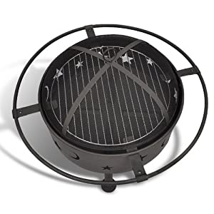 Wmicrouk Top Quality Fire Pitdesign Fire Scalefire Scale Moon Star 46mcgreat Choose For Cooking Delicious Bbq Food
