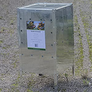 Woodside 120l Square Garden Galvanised Incinerator Fire Bin Rubbish Pit from Woodside