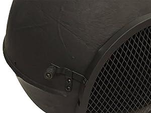 Woodside Black 115cm Outdoor Cast Iron Chimineachimenea Garden Fire Pit Heater from Woodside