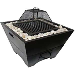 Worldstores - Large Fire Pit Garden Barbecue With Decorative Pebbles from Worldstores