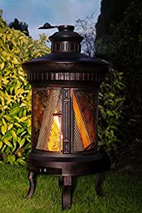 Wrought Iron Suiren Wood Burner Patio Heater Incinerator - Heavy Duty - Weighs In At 44kg by Black Country Metal Works