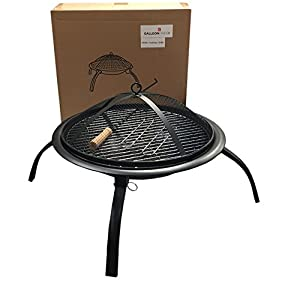 X Large Foldable Fire Pitbbq Grill4legsround 57cmfolding Outdoor Firepit Foldable Garden Patio Fire Pit Heater With Cooking Grill1 from GalleonFireplaces®