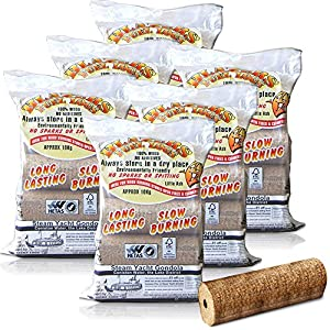 X30 Extra Large Blazers Fuel Logs 2kglog - For A Long Lasting Fire Stoves Open Fire Pits Etc - Comes With Thechemicalhut Anti-bac Pen by The Chemical Hut